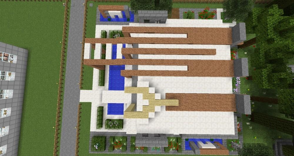 Modernes haus in minecraft bauen minecraft for Minecraft modernes haus bauen und einrichten