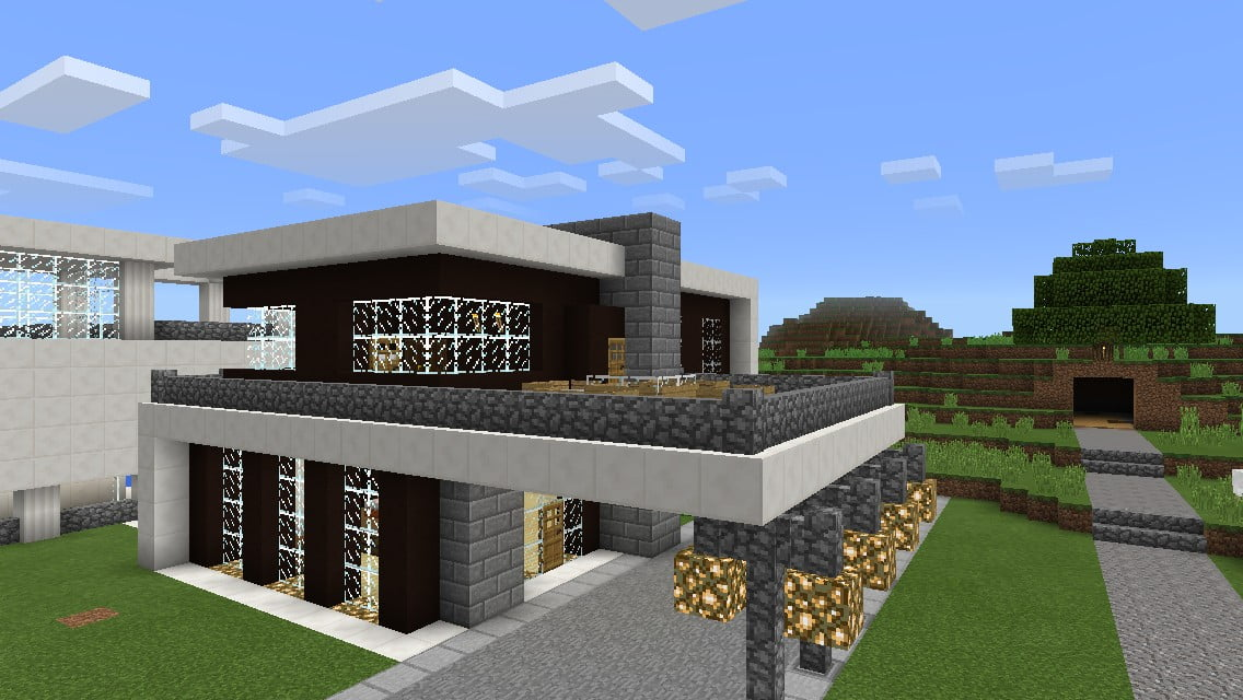 Modernes haus aus quarz in minecraft bauen minecraft for Minecraft haus modern