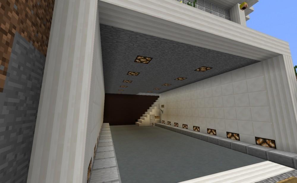 modernes haus mit garage in minecraft bauen minecraft. Black Bedroom Furniture Sets. Home Design Ideas