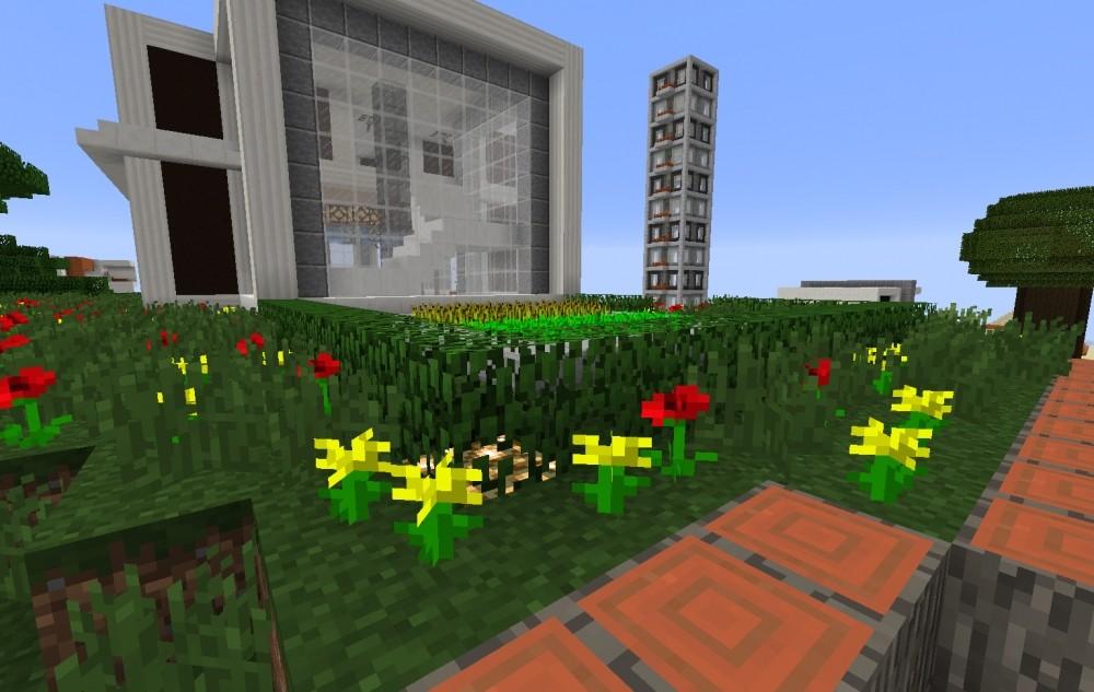 ᐅ Modernes Haus Mit Garage In Minecraft Bauen Minecraft Bauideen De