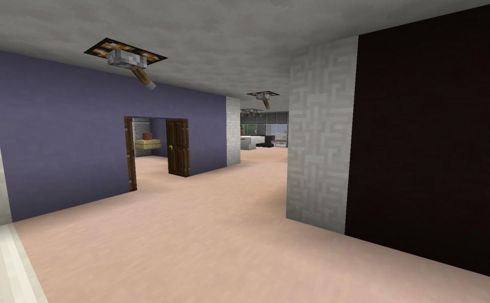 Modernes haus mit garage in minecraft bauen minecraft for Modernes haus mit garage