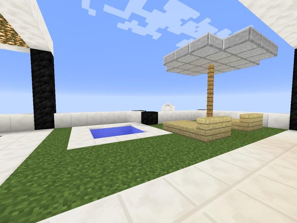 Moderne häuser mit viel glas  ᐅ Modernes Haus mit viel Glas in Minecraft bauen - minecraft ...