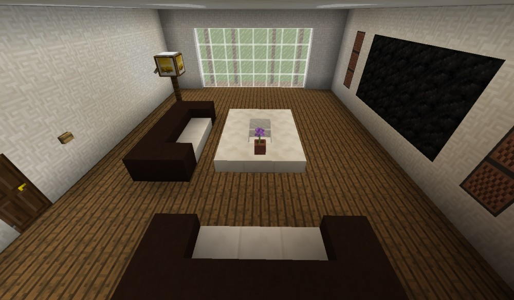 modernes wohnzimmer minecraft bauideen. Black Bedroom Furniture Sets. Home Design Ideas