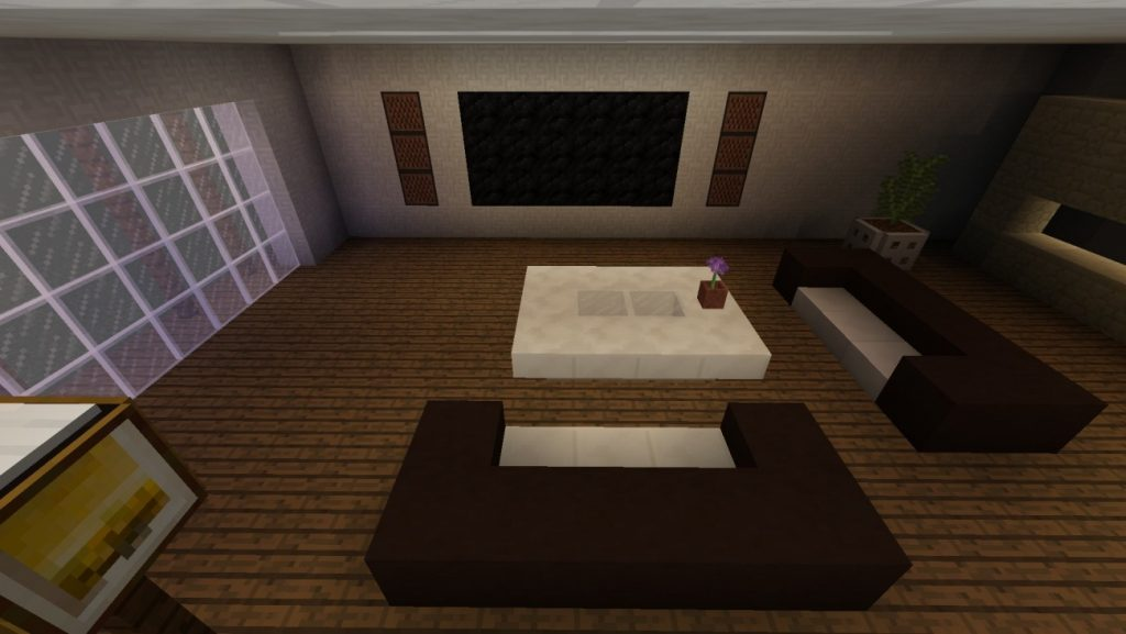 ᐅ Modernes Wohnzimmer in Minecraft bauen - minecraft-bauideen.de