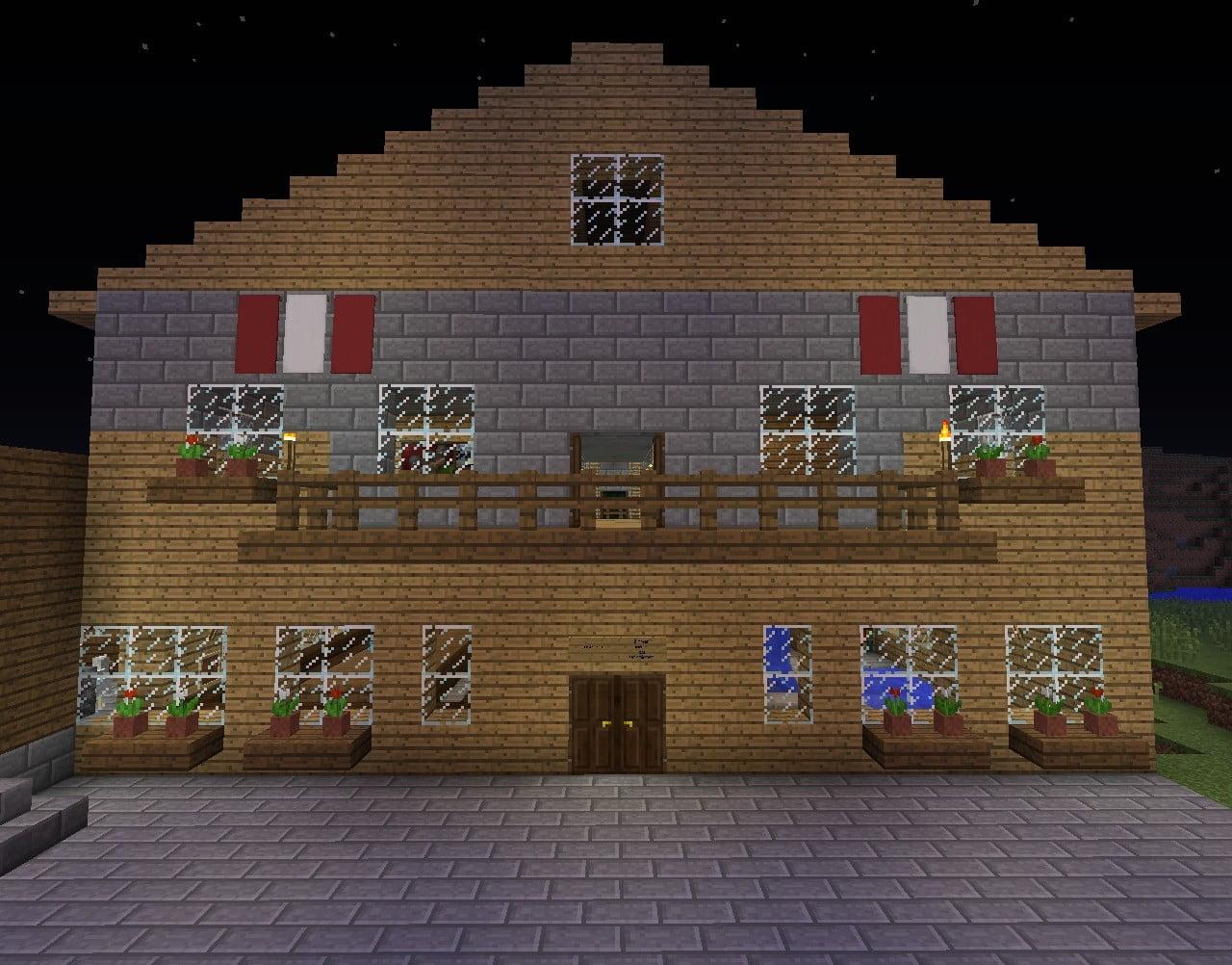 sterreichisches bauernhaus in minecraft bauen minecraft. Black Bedroom Furniture Sets. Home Design Ideas