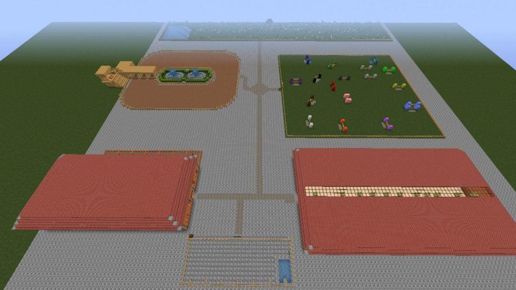 pferdehof in minecraft bauen minecraft. Black Bedroom Furniture Sets. Home Design Ideas