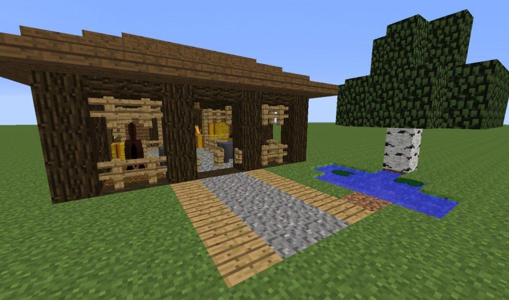 ᐅ Pferdestall In Minecraft Bauen Minecraftbauideende - Minecraft spiele mit pferden