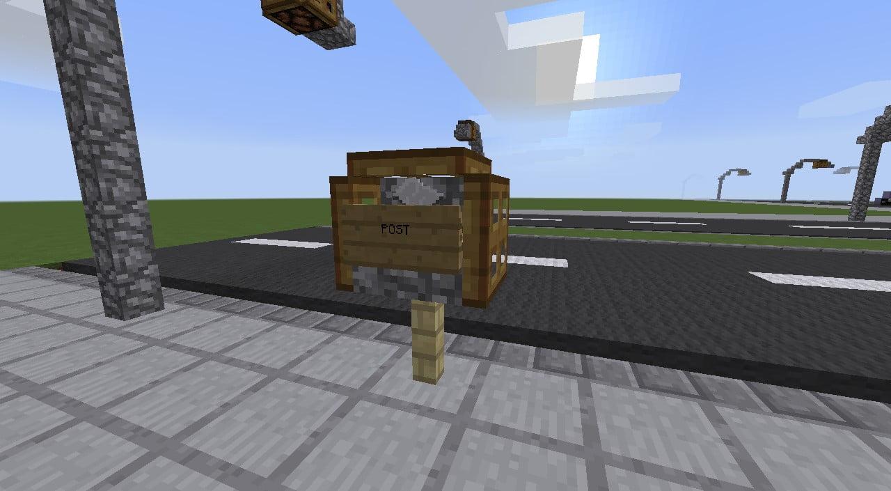 postkasten in minecraft bauen minecraft. Black Bedroom Furniture Sets. Home Design Ideas