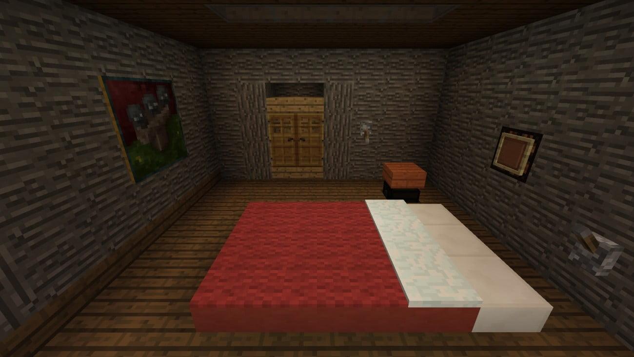 Praktisches schlafzimmer in minecraft bauen minecraft - Minecraft schlafzimmer ...