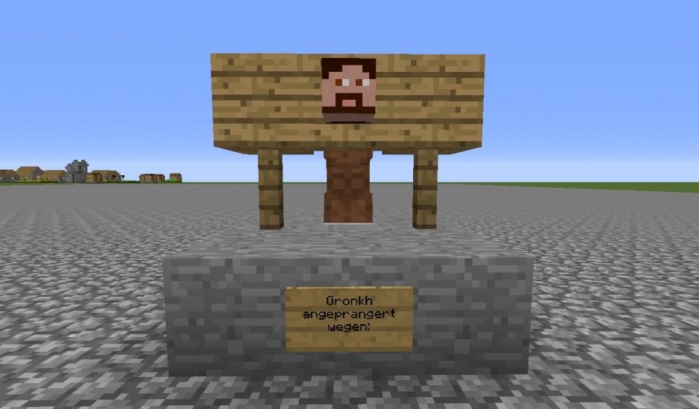 ᐅ Pranger In Minecraft Bauen Minecraftbauideende - Minecraft spieler kopfe geben command