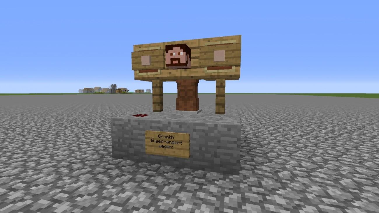 ᐅ pranger in minecraft bauen minecraft bauideen de