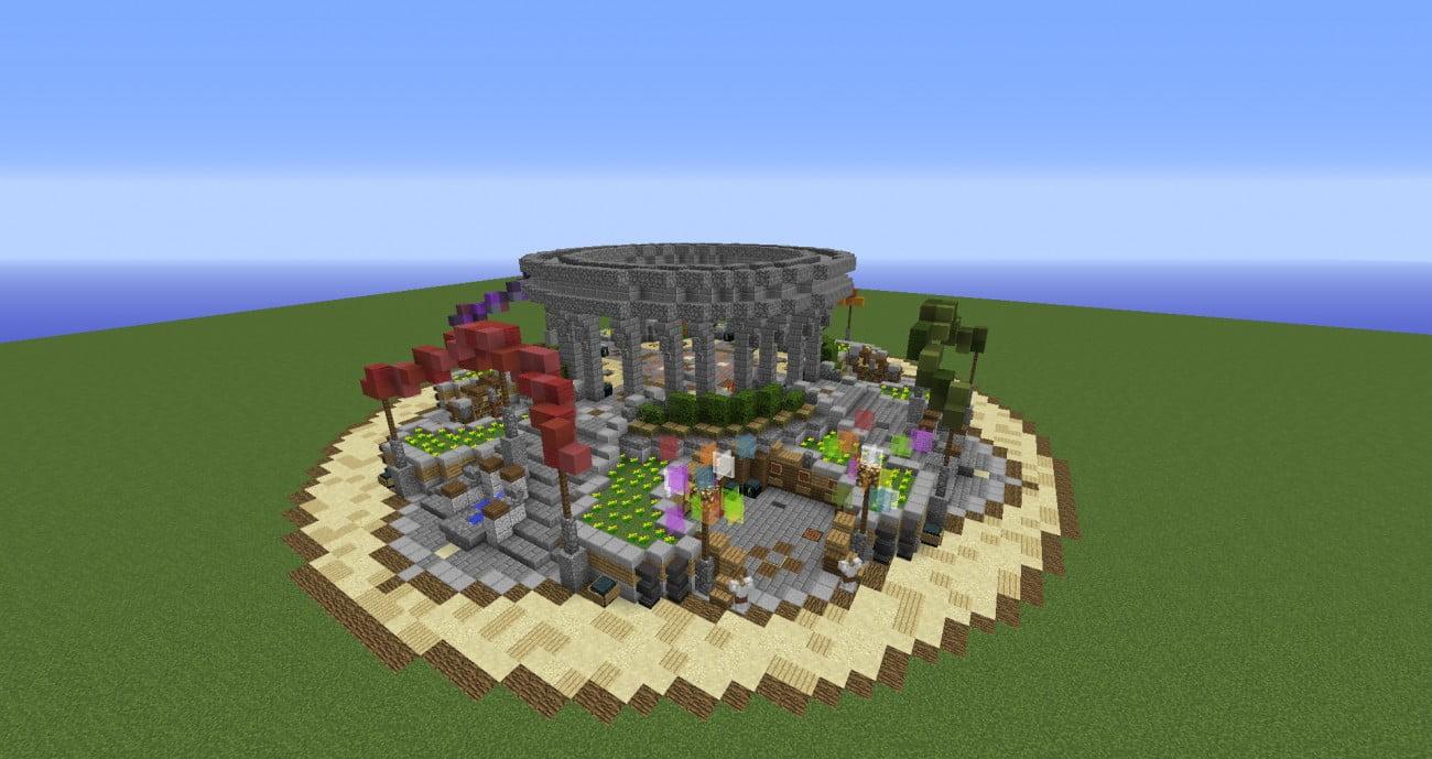 ᐅ PvPSpawn In Minecraft Bauen Minecraftbauideende - Minecraft hauser spawnen