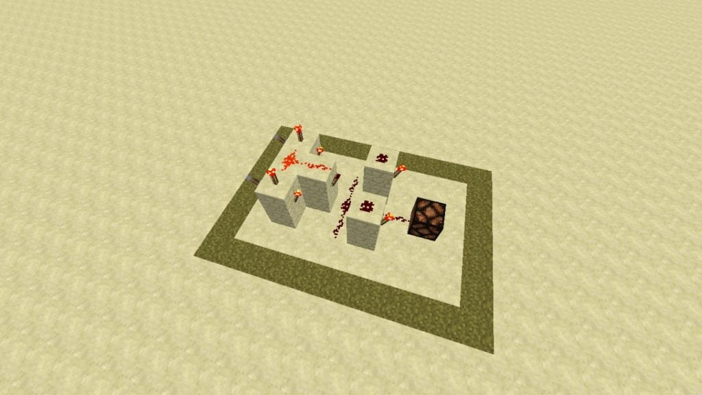 Redstone xor gatter in minecraft bauen minecraft for Porte xor minecraft