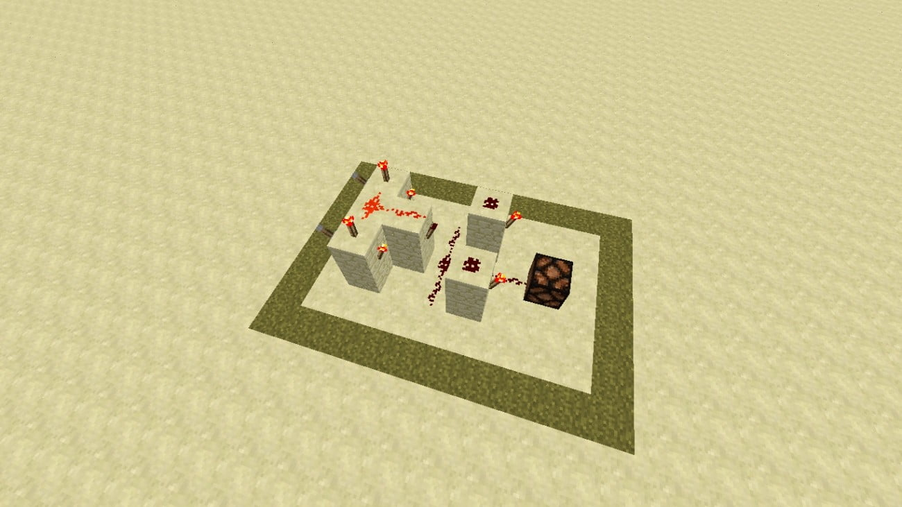 Redstone xor gatter in minecraft bauen minecraft for Puerta xor minecraft