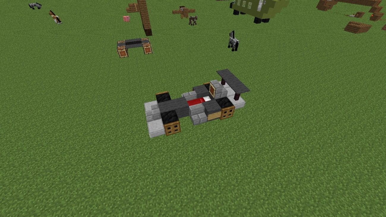 rennautobett in minecraft bauen minecraft. Black Bedroom Furniture Sets. Home Design Ideas