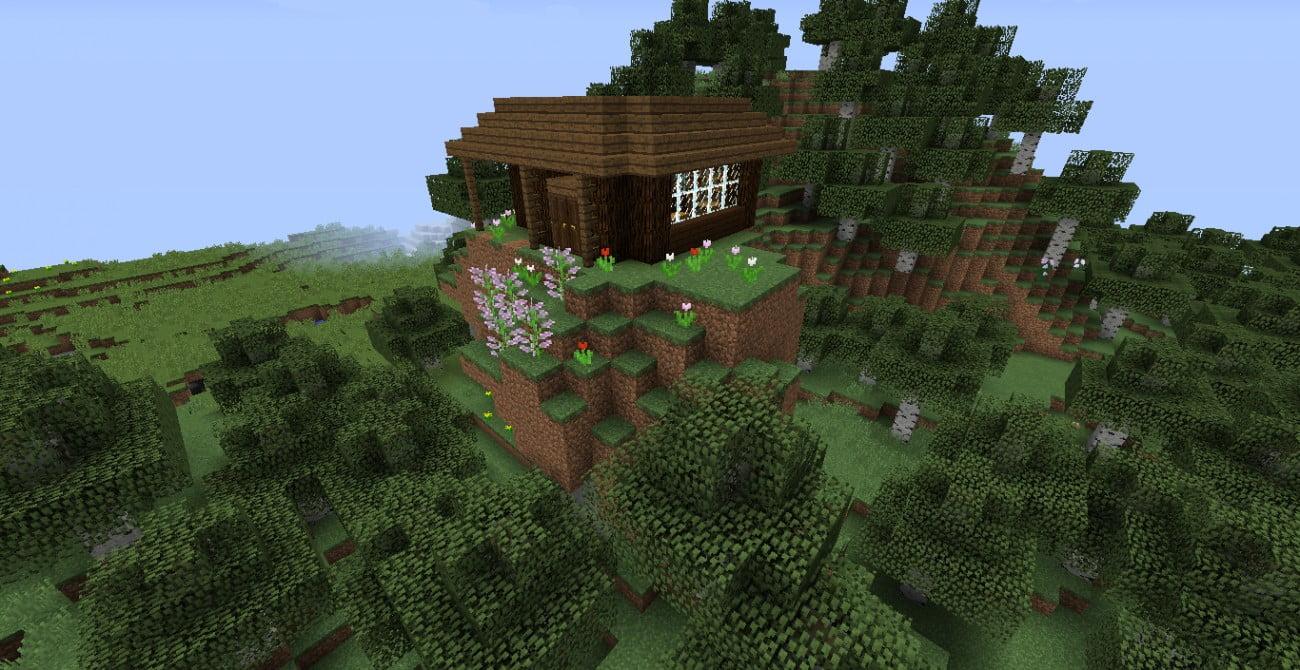 romantische bergh tte in minecraft bauen minecraft. Black Bedroom Furniture Sets. Home Design Ideas