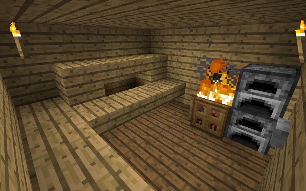 sauna in minecraft bauen minecraft. Black Bedroom Furniture Sets. Home Design Ideas