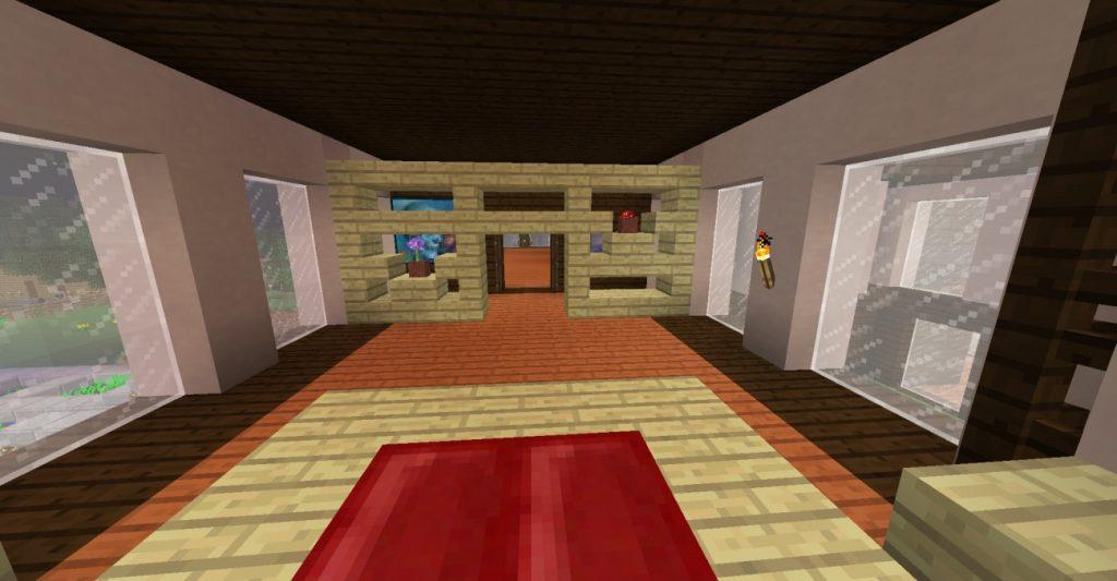 Schlafzimmer mit trennwand in minecraft bauen for Schlafzimmer mit trennwand