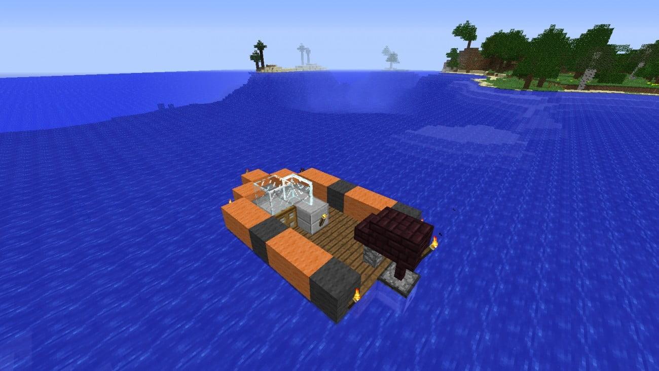 моторная лодка майнкрафт #1