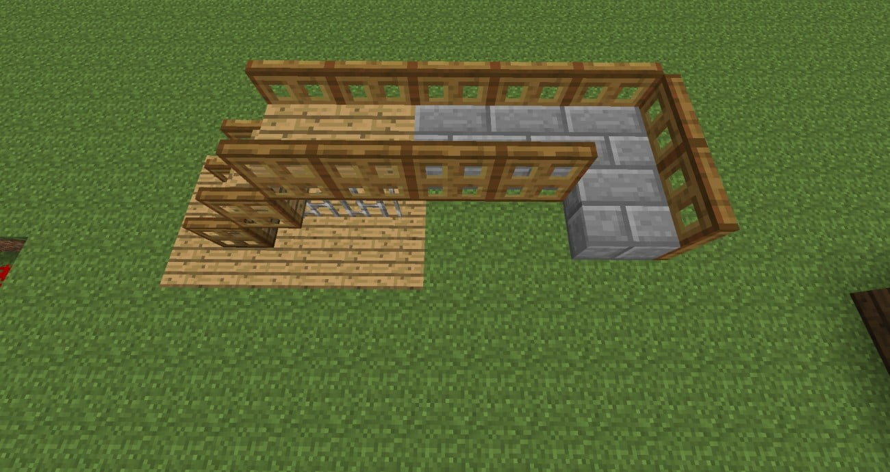 schmaler steg in minecraft bauen minecraft. Black Bedroom Furniture Sets. Home Design Ideas