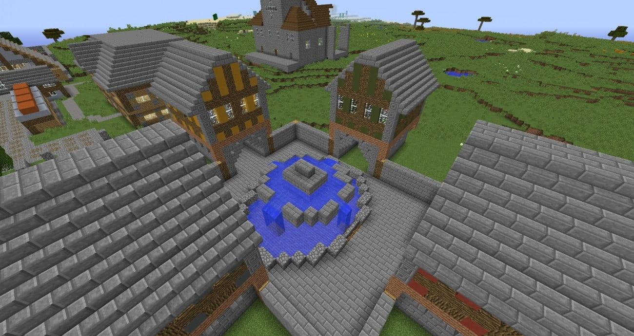 ᐅ Schoner Platz Mit Brunnen In Minecraft Bauen Minecraft Bauideen De