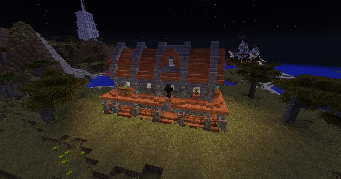 sch nes kleines akazienholz haus in minecraft bauen minecraft. Black Bedroom Furniture Sets. Home Design Ideas