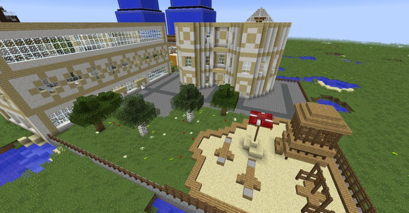ᐅ Schule mit Neben-und Hauptgebäude in Minecraft bauen - minecraft ...