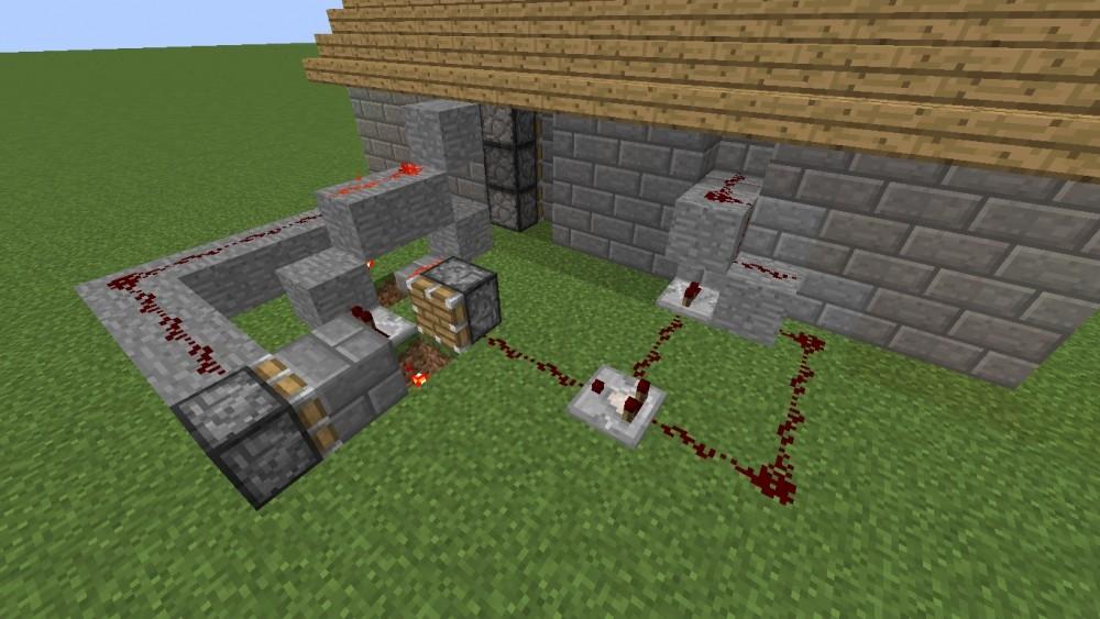 sicherer eingang in minecraft bauen minecraft. Black Bedroom Furniture Sets. Home Design Ideas