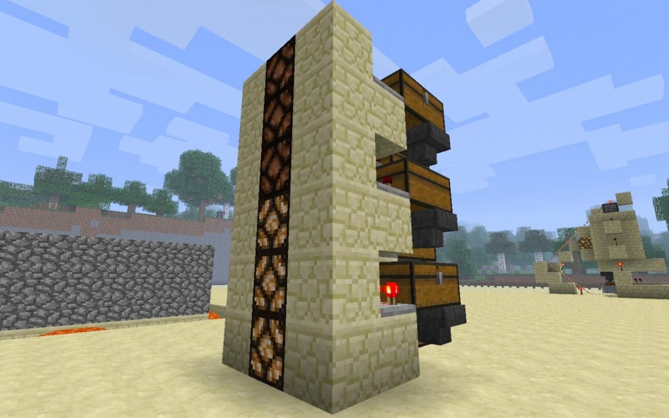 ᐅ Silo mit Füllstandsanzeige in Minecraft bauen - minecraft-bauideen.de