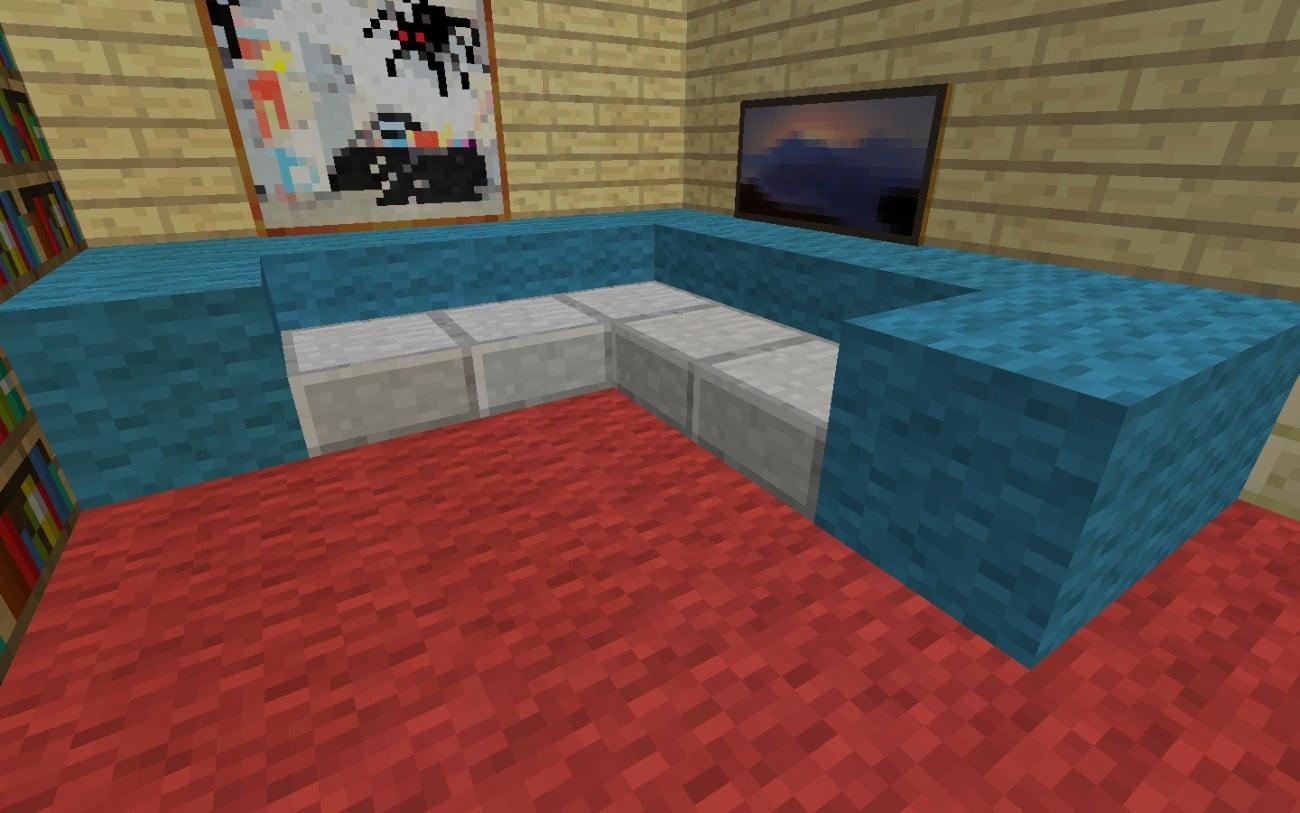 ᐅ Sofa In Minecraft Bauen Minecraftbauideende - Minecraft redstone hauser bauen