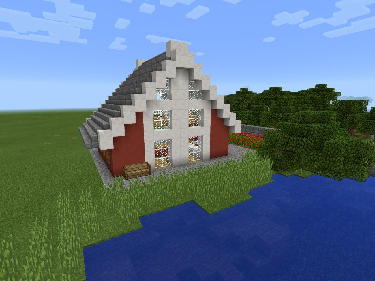 sommerhaus in minecraft bauen minecraft. Black Bedroom Furniture Sets. Home Design Ideas