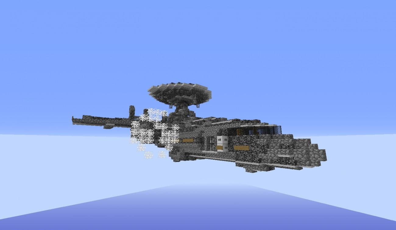 special kampf flugzeug in minecraft bauen minecraft. Black Bedroom Furniture Sets. Home Design Ideas