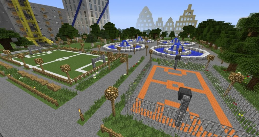 Sportanlage in minecraft bauen minecraft - Minecraft inneneinrichtung ...