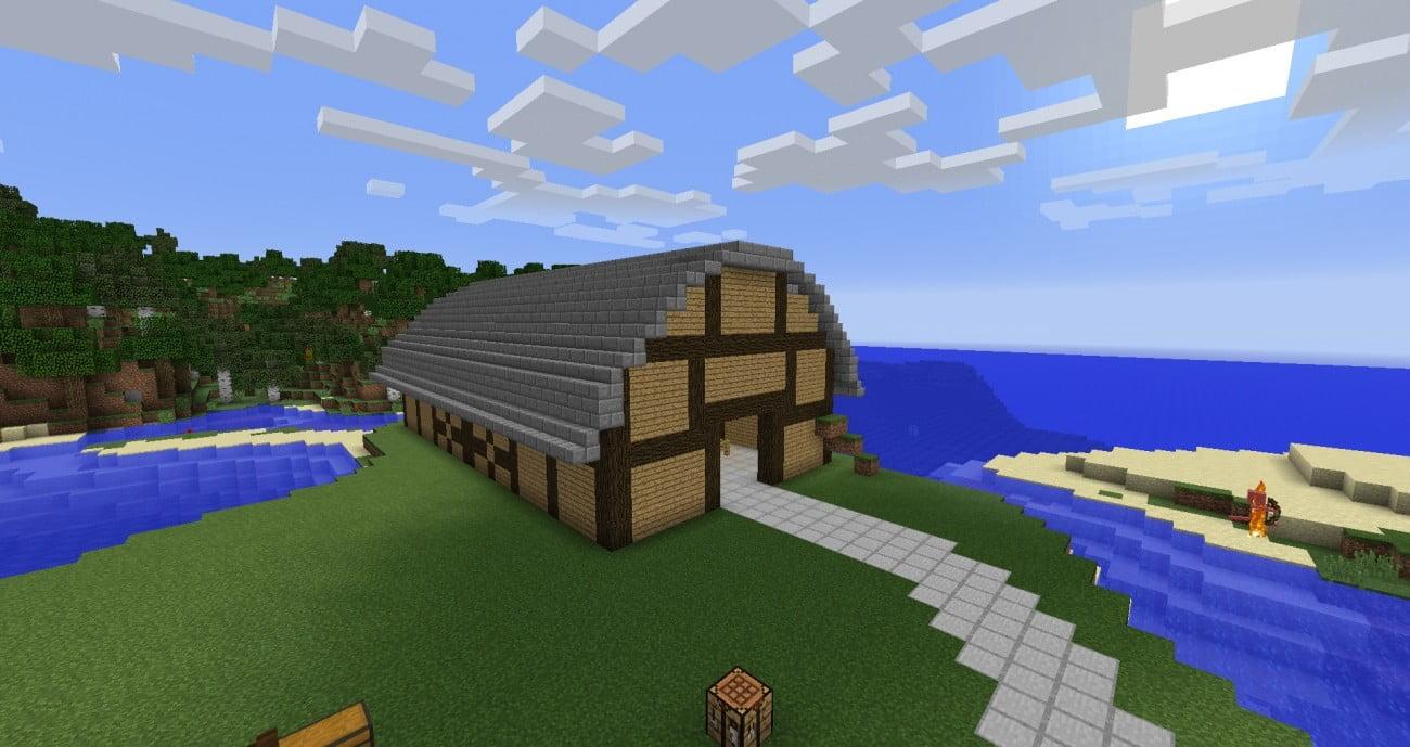 stall f r k he schafe und schweine in minecraft bauen. Black Bedroom Furniture Sets. Home Design Ideas