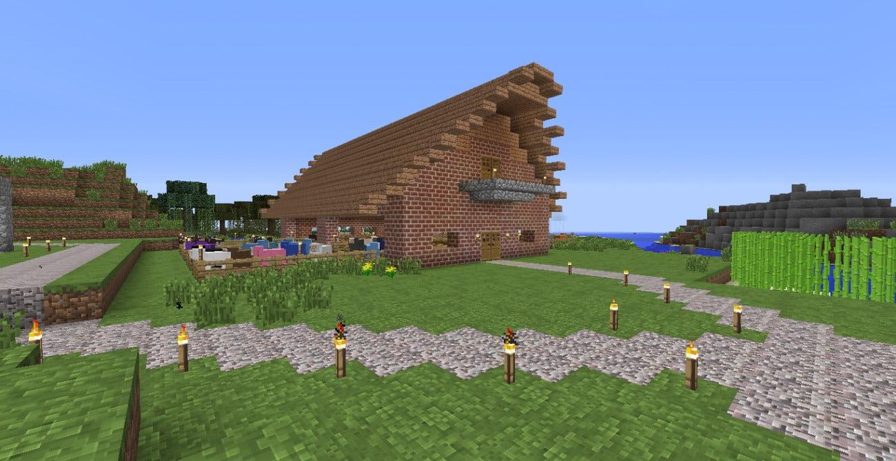 ᐅ Stall Mit Aussenbereich In Minecraft Bauen Minecraft Bauideen De