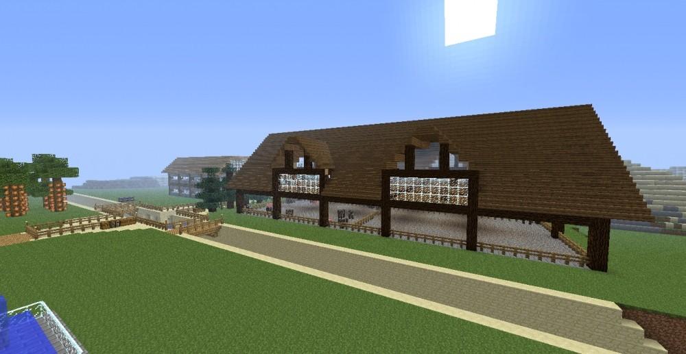 stall mit wohnhaus in minecraft bauen minecraft. Black Bedroom Furniture Sets. Home Design Ideas
