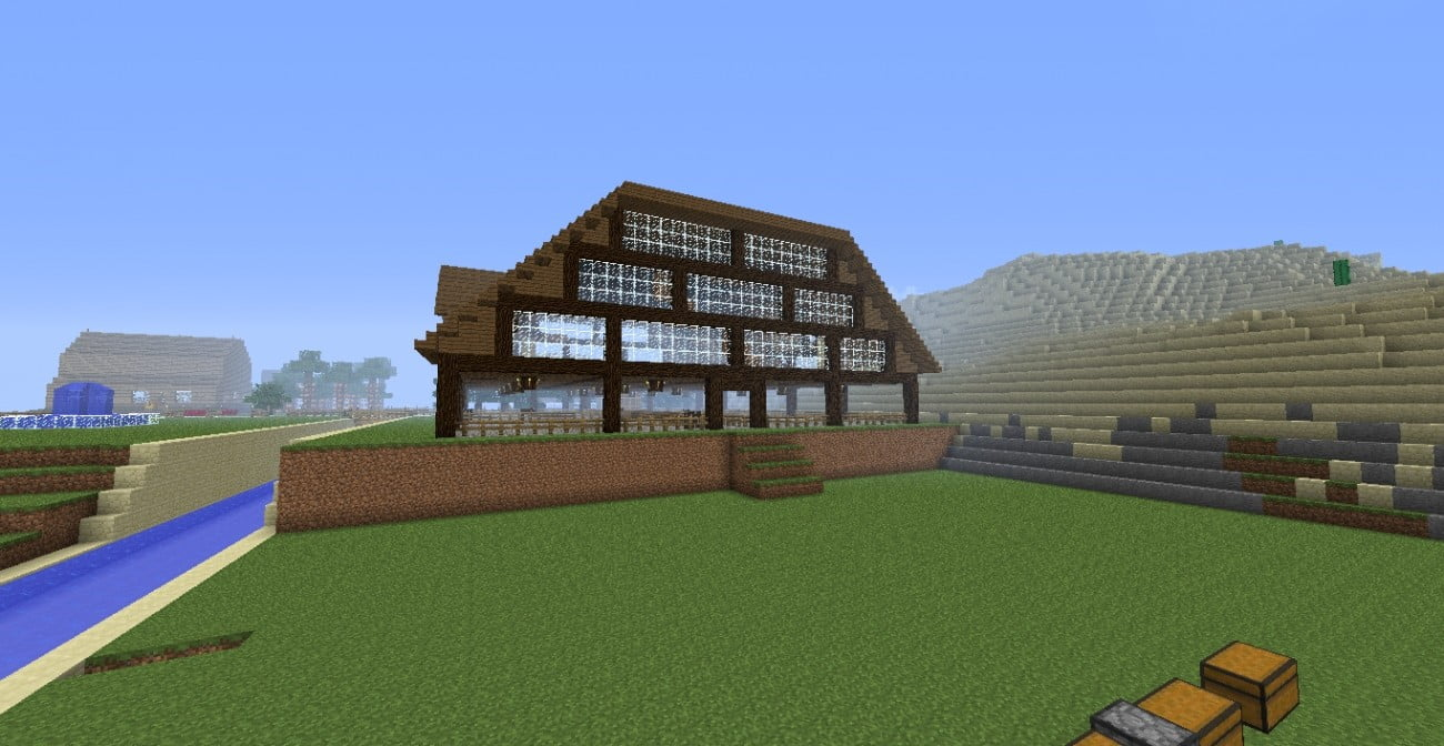 Stall mit wohnhaus in minecraft bauen minecraft for Wohnhaus bauen