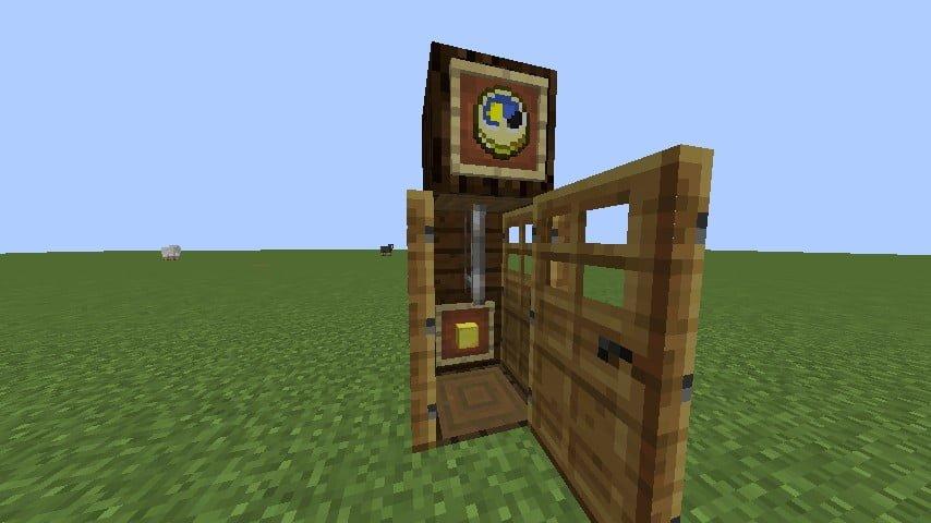 standuhr in minecraft bauen minecraft. Black Bedroom Furniture Sets. Home Design Ideas
