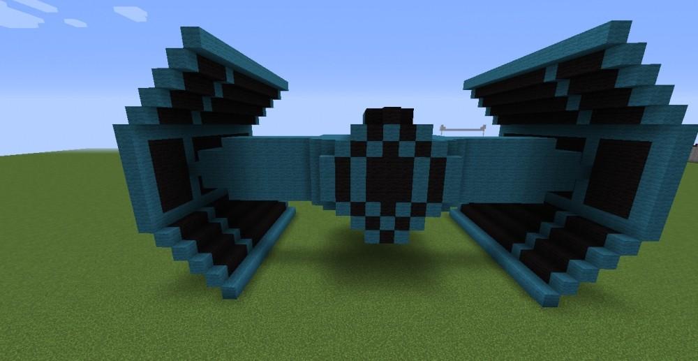 star wars fighter in minecraft bauen minecraft. Black Bedroom Furniture Sets. Home Design Ideas