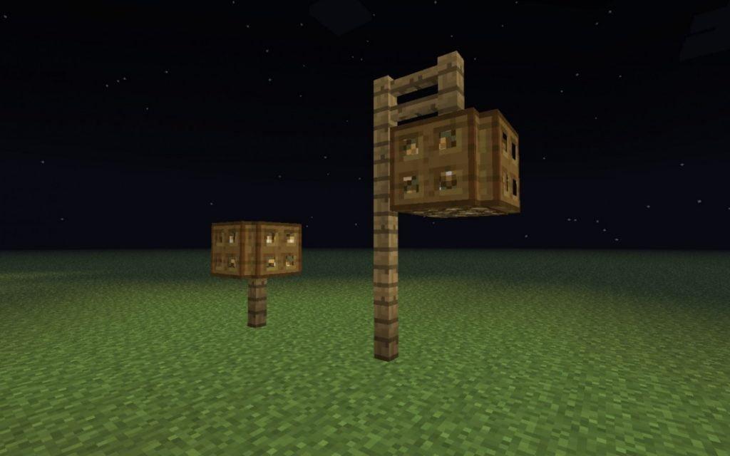 stra enlaternen in minecraft bauen minecraft. Black Bedroom Furniture Sets. Home Design Ideas