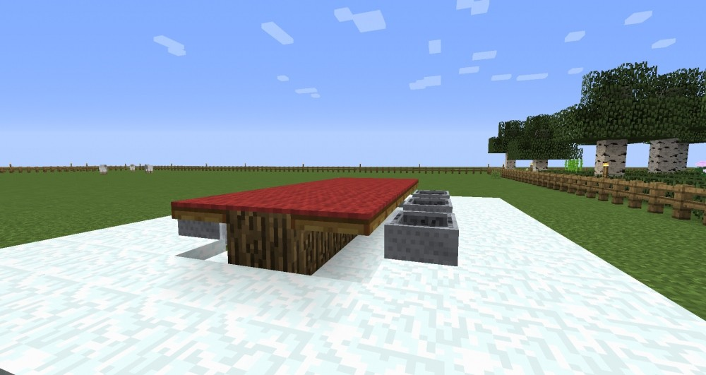 ᐅ Tisch Mit Stühlen In Minecraft Bauen Minecraftbauideende - Minecraft hauser verschieben