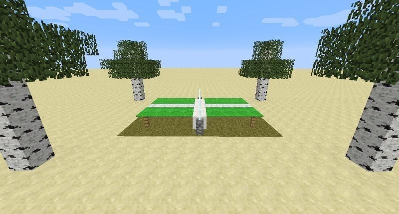 tischtennisplatte in minecraft bauen minecraft. Black Bedroom Furniture Sets. Home Design Ideas