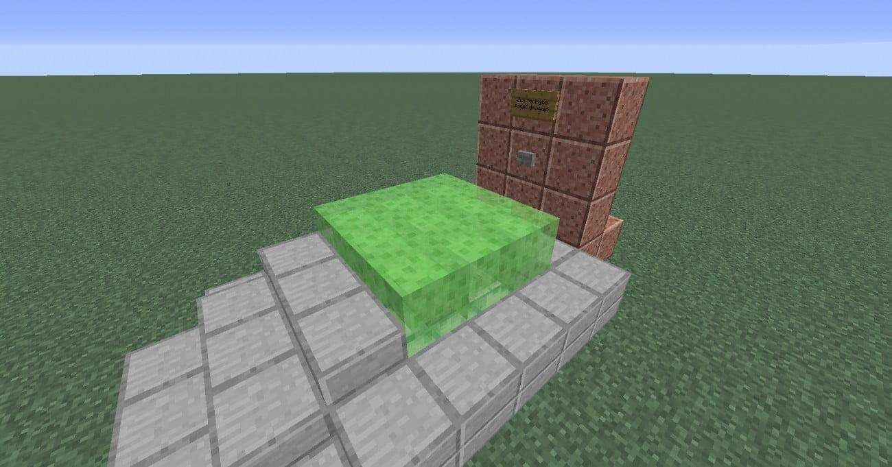 trampolin in minecraft bauen minecraft. Black Bedroom Furniture Sets. Home Design Ideas