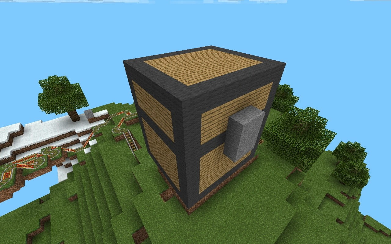 truhen haus in minecraft bauen minecraft. Black Bedroom Furniture Sets. Home Design Ideas