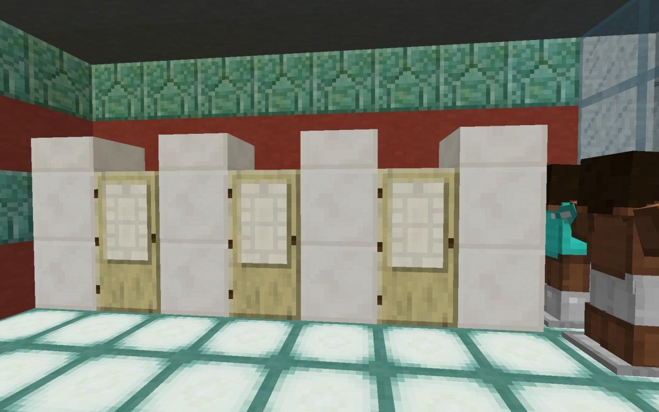 umkleidekabine in minecraft bauen minecraft. Black Bedroom Furniture Sets. Home Design Ideas