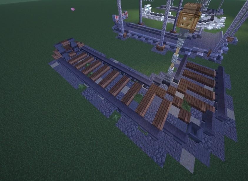 Verschiedene schienen designs als dekoration in - Minecraft dekoration ...