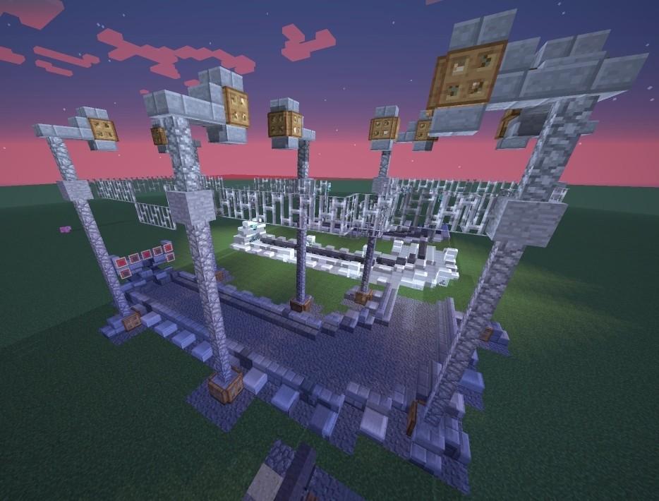 Verschiedene schienen designs als dekoration minecraft - Minecraft dekoration ...