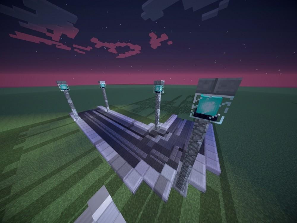 Verschiedene schienen designs als dekoration minecraft for Minecraft dekoration