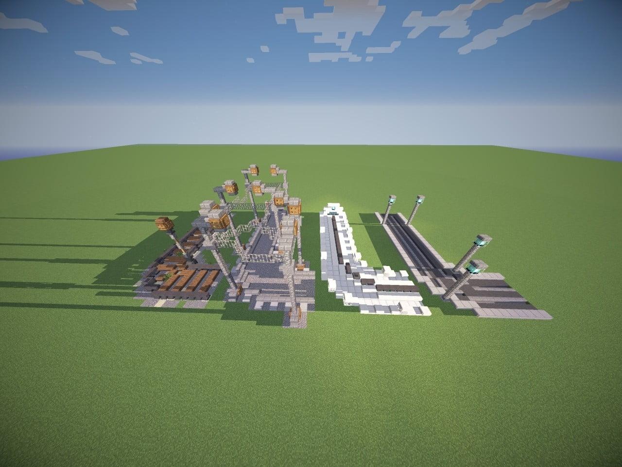 ᐅ Verschiedene Schienen Designs Als Dekoration In Minecraft Bauen