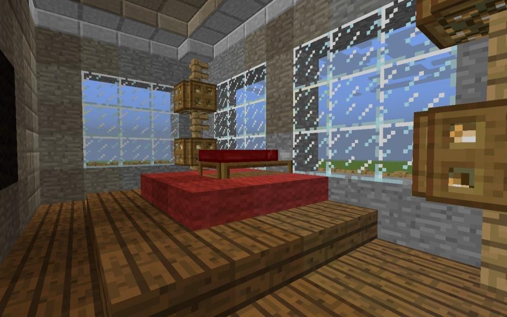 villa in minecraft bauen minecraft. Black Bedroom Furniture Sets. Home Design Ideas